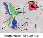hummingbird. symbol of love and ...   Shutterstock .eps vector #556605718