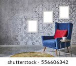 beautiful grey wall with... | Shutterstock . vector #556606342