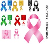 pink cancer ribbon and other... | Shutterstock .eps vector #55660720