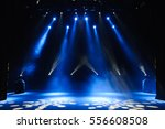 free stage with lights ... | Shutterstock . vector #556608508