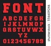 decorative alphabet font... | Shutterstock .eps vector #556609246