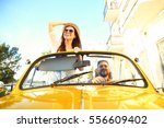 happy to travel together.... | Shutterstock . vector #556609402