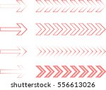 sideways set . linear signs... | Shutterstock .eps vector #556613026