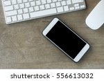 working desktop concept idea ... | Shutterstock . vector #556613032