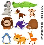 illustration of isolated wild...   Shutterstock .eps vector #55661473