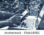 data and modern technology... | Shutterstock . vector #556618582