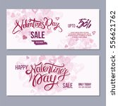 happy valentine day flyer... | Shutterstock .eps vector #556621762