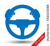 driver icon. flat icon of... | Shutterstock .eps vector #556623088