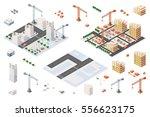 flat 3d architectural set... | Shutterstock .eps vector #556623175