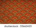 seamless 70's pattern orange... | Shutterstock . vector #55663435