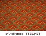 seamless 70's pattern orange... | Shutterstock . vector #55663435
