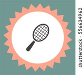 racket vector icon. tennis sign.... | Shutterstock .eps vector #556634962