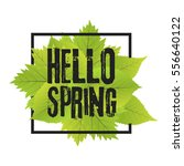Hello Spring. Lettering With...