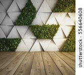 wall in modern interior with... | Shutterstock . vector #556640608