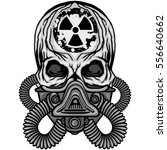 radiation coat of arms with... | Shutterstock .eps vector #556640662