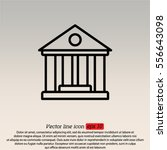 web line icon. classical... | Shutterstock .eps vector #556643098