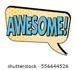 awesome speech bubble in retro... | Shutterstock .eps vector #556644526