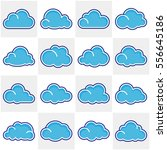 set of cloud icons. | Shutterstock .eps vector #556645186