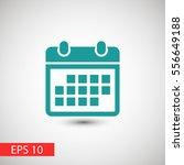 calendar icon  | Shutterstock .eps vector #556649188