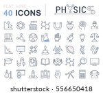 set vector line icons  sign and ... | Shutterstock .eps vector #556650418