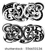 maori tribal tattoo set | Shutterstock .eps vector #556653136