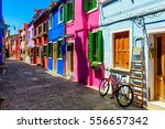 Street With Colorful Buildings...