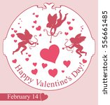card happy valentines day.... | Shutterstock .eps vector #556661485