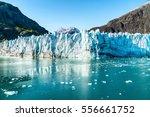 alaska glacier bay landscape... | Shutterstock . vector #556661752