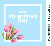 valentines day greeting card... | Shutterstock .eps vector #556662586