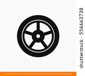 wheel  tyre icon. one of set... | Shutterstock .eps vector #556663738