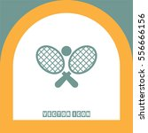 tennis racket ball vector icon. ... | Shutterstock .eps vector #556666156