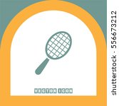 racket vector icon. tennis sign.... | Shutterstock .eps vector #556673212