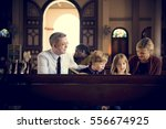 church people believe faith... | Shutterstock . vector #556674925