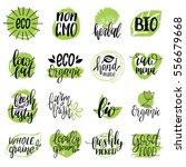 vector eco  organic  bio logos...   Shutterstock .eps vector #556679668