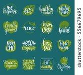 vector eco  organic  bio logos... | Shutterstock .eps vector #556679695