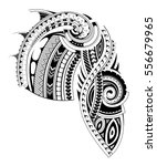 maori style tattoo design for... | Shutterstock .eps vector #556679965