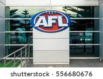 Small photo of Melbourne, Australia - December 23, 2016: the headquarters of the Australian Football League (AFL) are located at AFL House, Etihad Stadium at Docklands. The AFL runs Australian rules football.