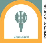 golf vector icon. ball sign.... | Shutterstock .eps vector #556684336