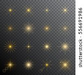 glitters and sparkles. vector... | Shutterstock .eps vector #556691986