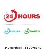 twenty four hours icon set | Shutterstock .eps vector #556695142