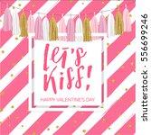 lettering valentine's day... | Shutterstock .eps vector #556699246