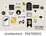 abstract black  white and gold... | Shutterstock .eps vector #556700032