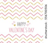 happy valentine s day card with ... | Shutterstock .eps vector #556700506