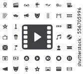 video play icon on the white... | Shutterstock .eps vector #556705996