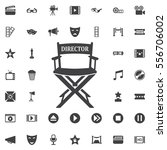 director chair icon on the... | Shutterstock .eps vector #556706002
