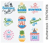 summer sale shopping logo badge ... | Shutterstock .eps vector #556706356