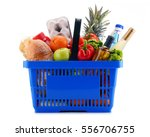 plastic shopping basket with...