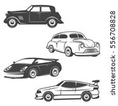 set of retro cars icons...   Shutterstock .eps vector #556708828