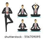 yoga man poses illustration.... | Shutterstock .eps vector #556709095