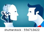 humans vs robots. concept... | Shutterstock .eps vector #556713622